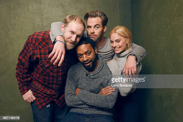 Director Craig Zobel actors Chiwetel Ejiofor Chris Pine and Margot Robbie from 'Z for Zachariah' pose for a portrait at the Village at the Lift...
