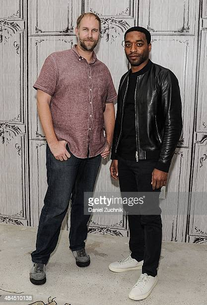 Director Craig Zobel and actor Chiwetel Ejiofor attend AOL Build to discuss their new film 'Z For Zachariah' at AOL Studios on August 19 2015 in New...
