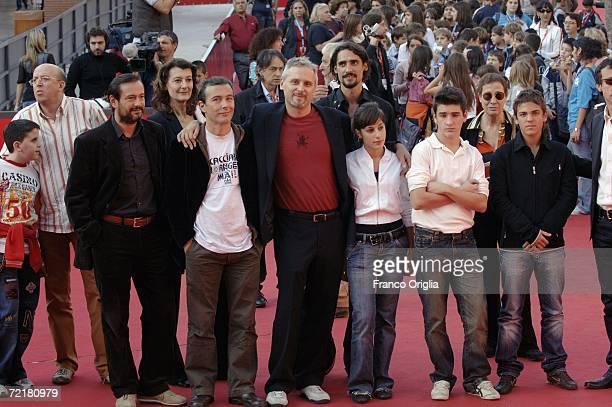 Director Cristiano Bortone and cast attend the premiere of the movie Rosso Come Il Cielo on the fourth day of Rome Film Festival on October 16 2006...