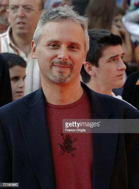 Director Cristiano Bortone attends the premiere of the movie Rosso Come Il Cielo on the fourth day of Rome Film Festival on October 16 2006 in Rome...