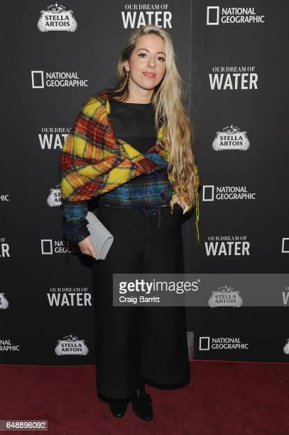 Director Crystal Moselle attends the Stella Artois and National Geographic world premiere of Our Dream Of Water documentary by awardwinning director...