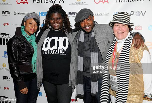 Director Crystle Roberson producer Dianne Ashford producer Will Packer and Carol Ann Shine of Blackhouse attend the Academy Conversation With Will...