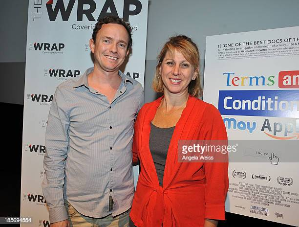 Director Cullen Hoback and CEO/founder Sharon Waxman of TheWrap attend TheWrap's Awards series screening QA of Terms And Conditions May Apply at...