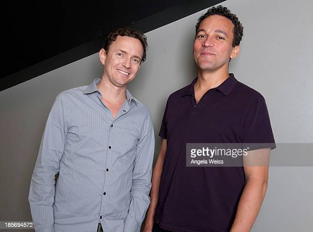 Director Cullen Hoback and producer John Ramos attend TheWrap's Awards series screening of Terms And Conditions May Apply at Landmark Theatres on...