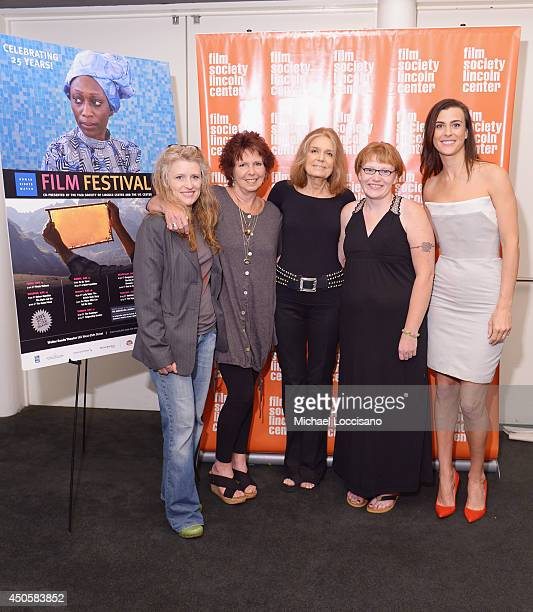 Director Cynthia Hill, film subject Kit Gruelle, executive producer Gloria Steinem, film subject Deanna Walters and executive producer Lilly Hartley...