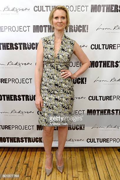Director Cynthia Nixon attends MotherStruck opening night at the Lynn Redgrave Theatre on December 14 2015 in New York City