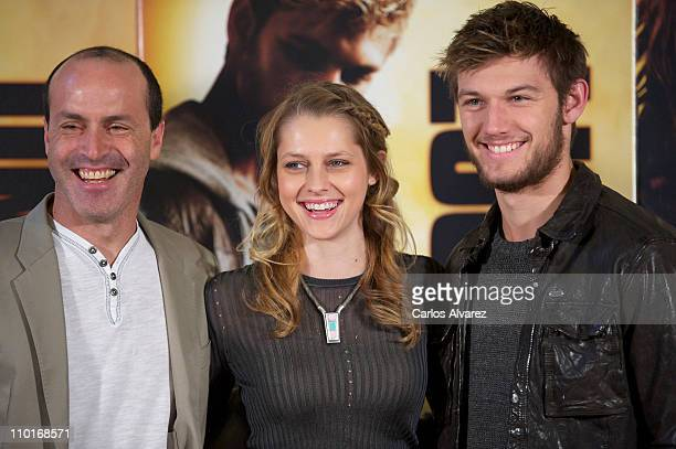 Director D J Caruso actress Teresa Palmer and actor Alex Pettyfer attend 'I Am Number Four photocall at Santo Mauro Hotel on March 16 2011 in Madrid...