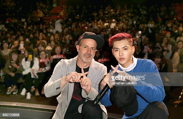 Director D J Caruso and Actor Kris Wu attend the LA Screening of Paramount Pictures xXx RETURN OF XANDER OF CAGE at the Paramount Theatre on the...