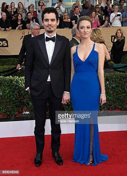 Director Damien Chazelle and actor Olivia Hamilton attend The 23rd Annual Screen Actors Guild Awards at The Shrine Auditorium on January 29, 2017 in...