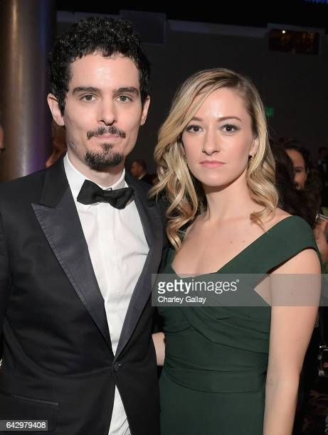 Director Damien Chazelle and actress Olivia Hamilton attend the 2017 Writers Guild Awards LA Ceremony at The Beverly Hilton Hotel on February 19 2017...