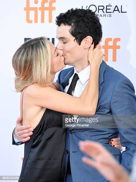 Director Damien Chazelle and guest attend the 'La La Land' premiere during the 2016 Toronto International Film Festival at Princess of Wales Theatre...