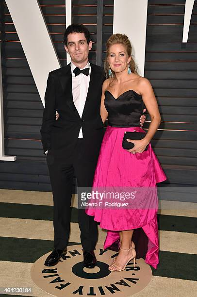 Director Damien Chazelle and Jasmine McGlade Chazelle attend the 2015 Vanity Fair Oscar Party hosted by Graydon Carter at Wallis Annenberg Center for...