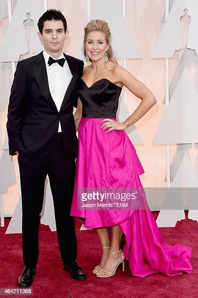 Director Damien Chazelle and Jasmine McGlade Chazelle attend the 87th Annual Academy Awards at Hollywood Highland Center on February 22 2015 in...