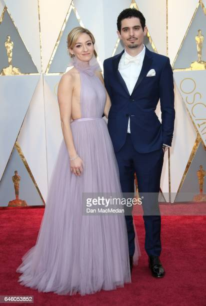 Director Damien Chazelle and Olivia Hamilton arrive at the 89th Annual Academy Awards at Hollywood Highland Center on February 26 2017 in Hollywood...
