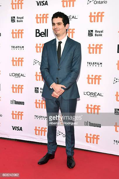Director Damien Chazelle attends the 'La La Land' Premiere during the 2016 Toronto International Film Festival at Princess of Wales Theatre on...