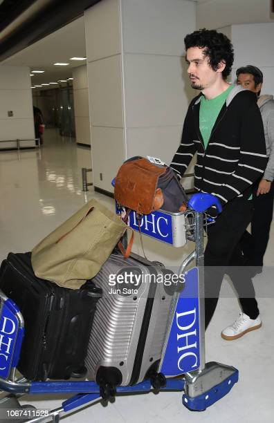 Director Damien Chazelle is seen on arrival at Narita International Airport on December 2 2018 in Narita Chiba Japan