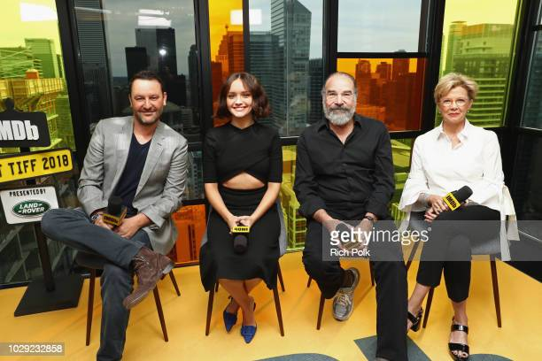 """Director Dan Fogelman, Olivia Cooke, Mandy Patinkin and Annette Bening of """"Life Itself"""" attend The IMDb Studio presented By Land Rover At The 2018..."""