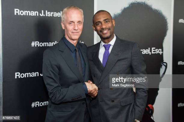 Director Dan Gilroy and Executive Producer Charles D King attend the Roman J Israel Esquire New York Premiere at Henry R Luce Auditorium at...
