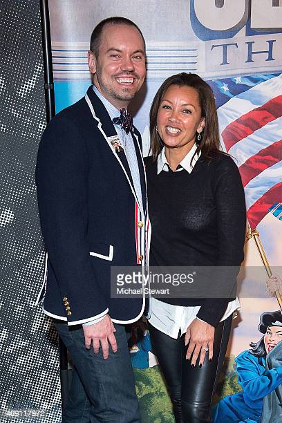 Director Dan Knechtges and Vanessa Williams attend Clinton The Musical Opening Night at New World Stages on April 9 2015 in New York City