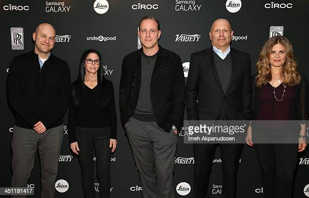 Director Dan Scanlon producer Lori Forte director Kirk DeMicco producer Christopher Meledandri and director Jennifer Lee attend Variety Awards Studio...
