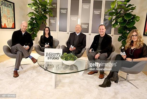 Director Dan Scanlon producer Lori Forte producer Christopher Meledandri directors Kirk DeMicco and Jennifer Lee attend Variety Awards Studio Day 2...