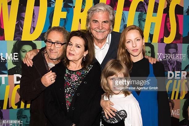 Director Dani Levy, Katharina Schuettler, Peter Simonischek, Hannelore Elsner and Ewi Rodriguez during the Berlin premiere of the film 'Die Welt der...