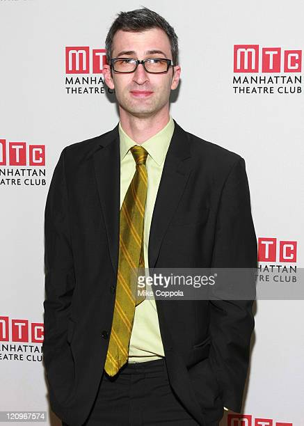 Director Daniel Aukin attends the opening night celebration of Manhattan Theatre Club's 'Back Back Back' at Mickey Mantle's on November 18 2008 in...