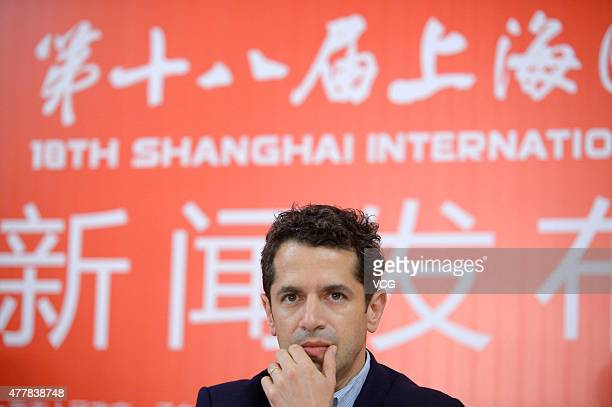 Director Daniel Barnz attends his 'Cake' press conference as part of 18th Shanghai International Film Festival on June 19 2015 in Shanghai China