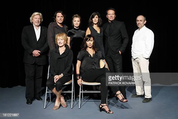 Director Daniel Benoin and French actors and actresses Pierre Cassignard Caroline Proust Melanie Doutey Samuel Le Bihan Paul Charieras Dominique...