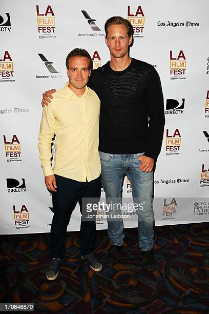 Director Daniel Dencik and actor Alexander Skarsgard arrive at 'The Expedition to the End of World' premiere during the 2013 Los Angeles Film...