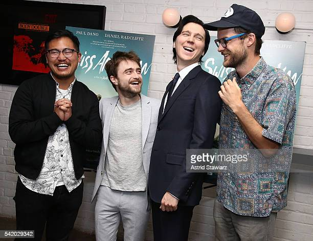 Director Daniel Kwan actors Daniel Radcliffe Paul Dano and director Daniel Scheinert attend Swiss Army Man New York Premiere at Metrograph on June 21...