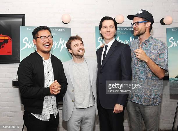 Director Daniel Kwan actors Daniel Radcliffe Paul Dano and director Daniel Scheinert attend 'Swiss Army Man' New York Premiere at Metrograph on June...