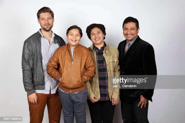 Director Daniel Sawka actors Matthew Moreno Anthony Gonzalez and Omar Leyva from 'Icebox' are photographed for Los Angeles Times on September 10 2018...
