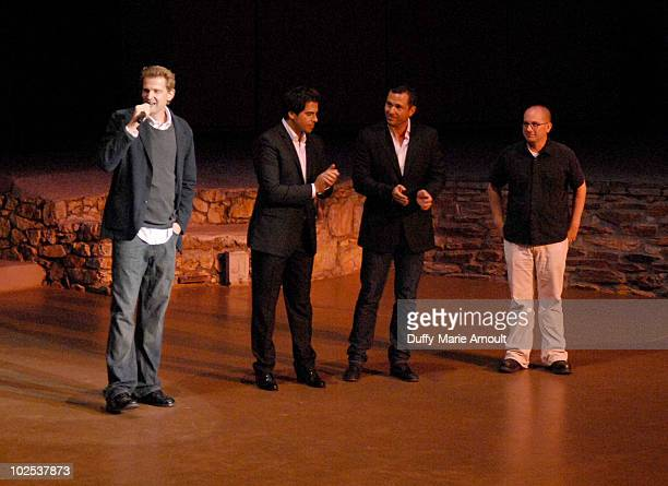 Director Daniel Stamm producers Eli Roth Eric Newman and programmer Doug Jones speak during The Last Exorcism Ford Screening during the 2010 Los...