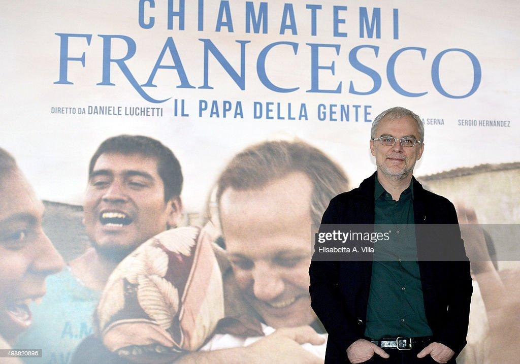 Director Daniele Luchetti attends a photocall for 'Call Me Francesco' (ITA: Chiamatemi Francesco, Il Papa Della Gente) at Cinema Adriano on November 26, 2015 in Rome, Italy.