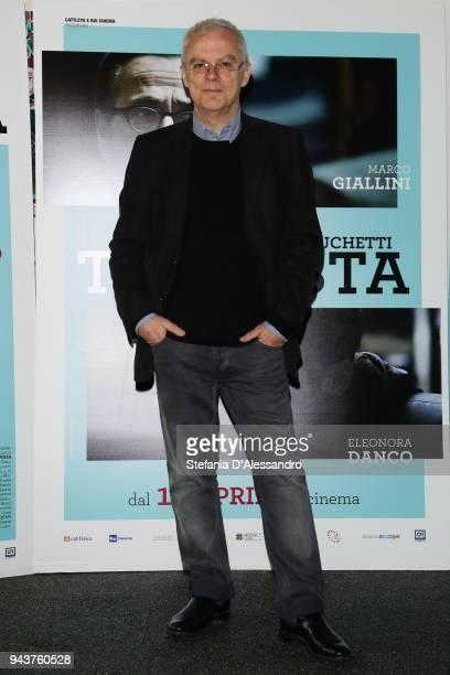 Director Daniele Luchetti attends 'Io Sono Tempesta' photocall on April 9 2018 in Milan Italy