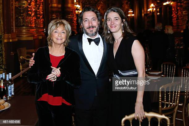 Director Daniele Thompson Actor Guillaumre Gallienne and his wife Amandine attend Weizmann Institute celebrates its 40 Anniversary at Opera Garnier...