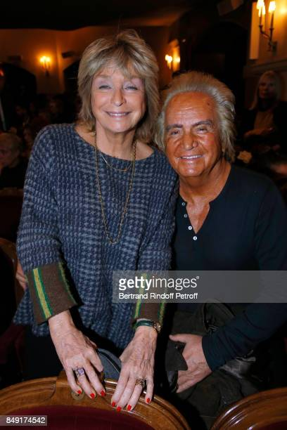 """Director Daniele Thompson and her husband Producer Albert Koski attend """"La vraie vie"""" Theater Play at Theatre Edouard VII on September 18, 2017 in..."""