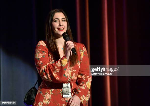 Director Danielle Cohen speaks onstage at the Closing Night Film Santa Barbara Documentary Shorts during The 33rd Santa Barbara International Film...