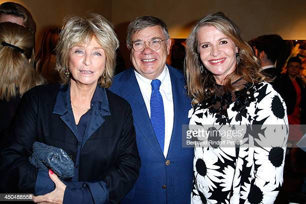 Director Danielle Thompson JeanYves Ollivier and Eugenia Grandchamp Des Raux attend the 'Eugenia Grandchamp Des Raux' Danse Exhibition at Galerie...