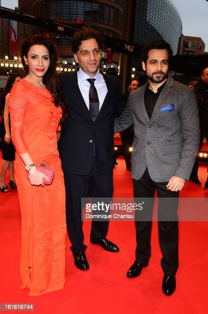 Director Danis Tanovic with Prashita Chaudhary and Emraan Hashmi as they attend the 'An Episode in the Life of an Iron Picker' Premiere during the...