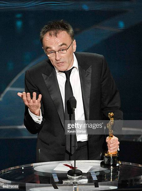 Director Danny Boyle accepts his Best Director award for Slumdog Millionaire during the 81st Annual Academy Awards held at Kodak Theatre on February...
