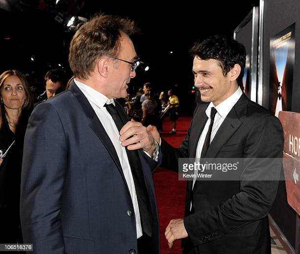 Director Danny Boyle and actor James Franco arrive at the premiere of Fox Searchlight Pictures' 127 Hours at the Samuel Goldwyn Theater on November 3...