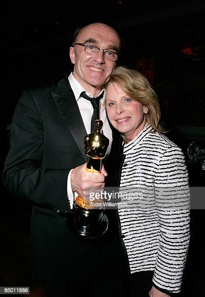 Director Danny Boyle and publicist Ronni Chasen attend the Fox Searchlight Oscar Party at One Sunset February 22 2009 in Beverly Hills California
