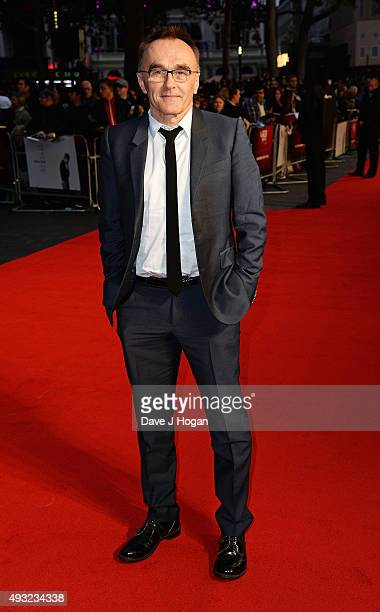 Director Danny Boyle attends a screening of 'Steve Jobs' on the closing night of the BFI London Film Festival at Odeon Leicester Square on October 18...