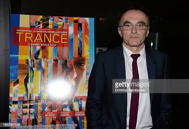 Director Danny Boyle attends Fox Searchlight Pictures' premiere of Trance hosted by the Cinema Society Montblanc at SVA Theater on April 2 2013 in...