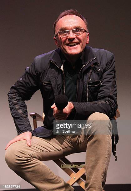 Director Danny Boyle attends Meet The Filmmaker at the Apple Store Soho on April 3 2013 in New York City