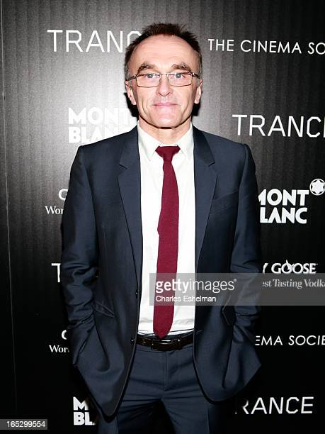 Director Danny Boyle attends The Cinema Society Montblanc Host Fox Searchlight Pictures' Trance at SVA Theatre on April 2 2013 in New York City