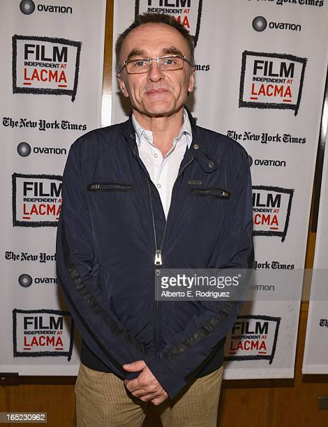 Director Danny Boyle attends The Film Independent at LACMA's special screening and QA of director Danny Boyle's 'Trace' at Bing Theatre At LACMA on...