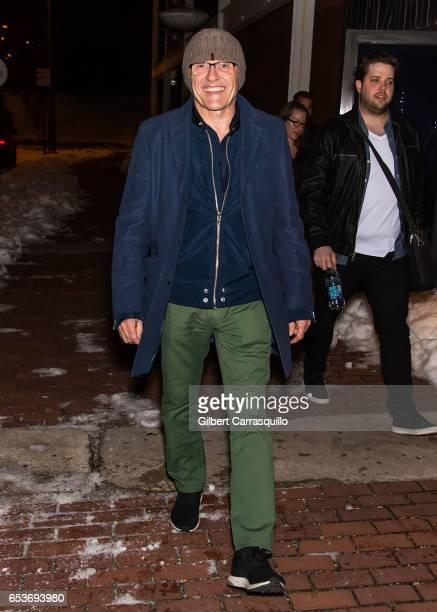 Director Danny Boyle is seen leaving a Philadelphia screening of his new movie 'T2 Trainspotting' on March 15 2017 in Philadelphia Pennsylvania